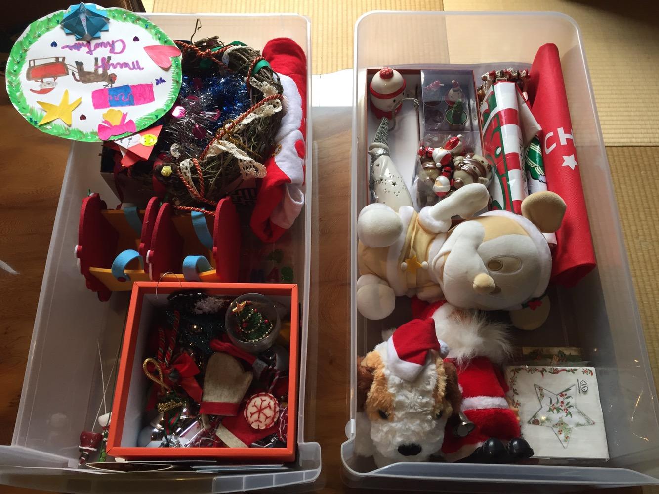 クリスマスグッズ収納 片コンハンナ